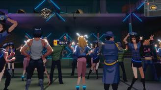 游戏实现像素风格与3D画面的结合。