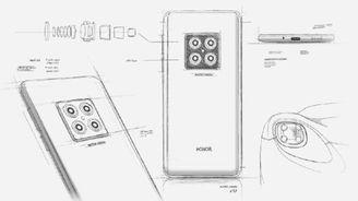 荣耀V30设计图手稿曝光:矩阵式四镜头设计