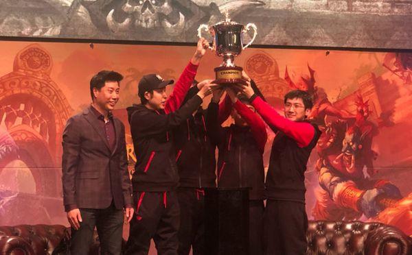 《炉石传说》WE战队:中韩战队赛获胜对我们很有帮助