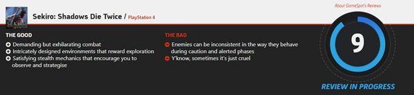 《只狼:影逝二度》媒体评分解禁 MC平均89分