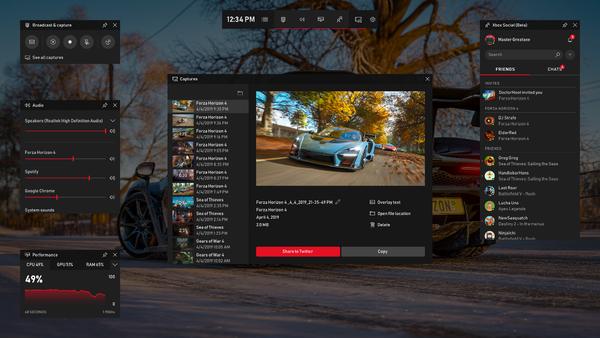 Spotify/聊天及更多內容將登陸Windows 10游戲欄