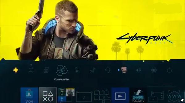 《賽博朋克2077》免費PS4主題上架 自帶音樂音效
