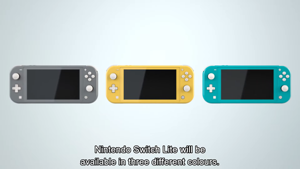 任天堂Switch Lite正式公布!今年9月20号发售