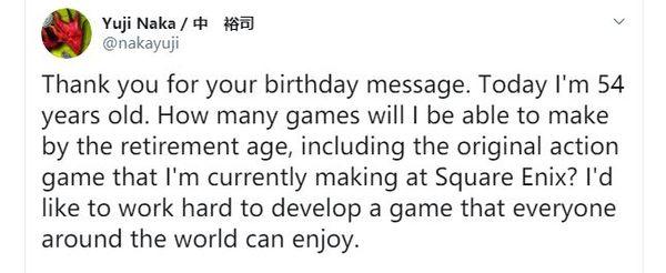 索尼克之父中裕司表示他正為SE制作動作游戲