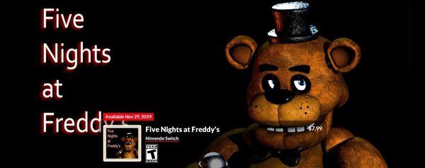 《玩具熊的五夜后宮》三作將于11月29日登陸Switch