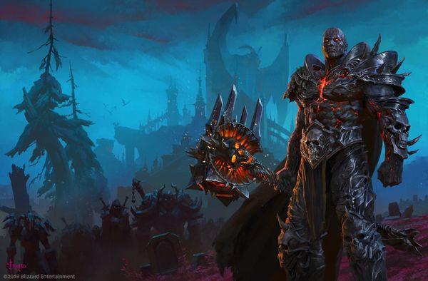 《魔獸世界》畫師Bayard發布新巫妖王主題畫作
