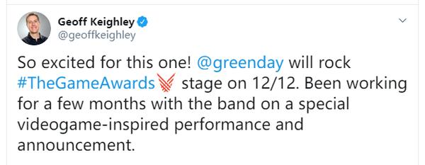 TGA 2019特邀表演嘉賓公開 綠日樂隊將到場演出