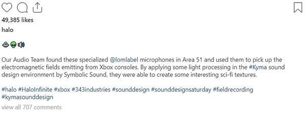 《光环:无限》音效来自Xbox主机运行电磁场