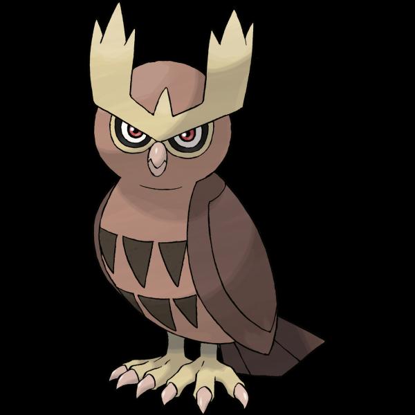 《寶可夢:劍/盾》圖鑒——?貓頭夜鷹