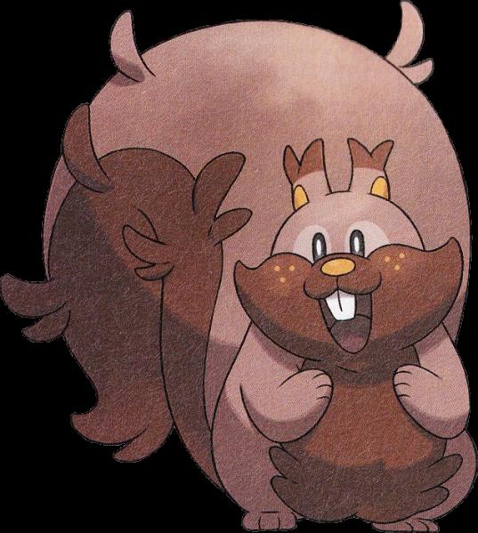 《寶可夢:劍/盾》圖鑒——貪心栗鼠