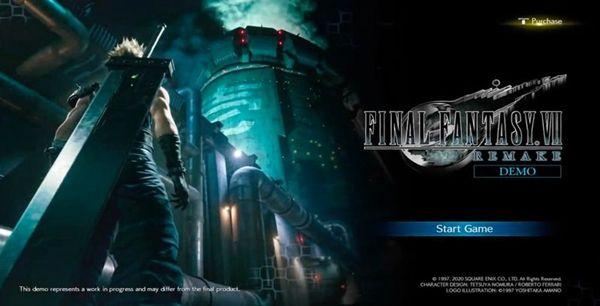 《最終幻想7重制版》試玩版開場動畫與主菜單泄露