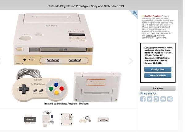 世上僅存一臺的任天堂PlayStation將在3月開啟拍賣