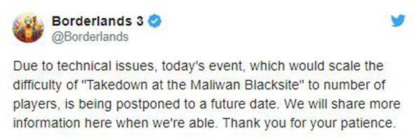《無主之地3》突襲馬里灣設施活動因技術問題延期
