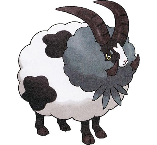 《寶可夢:劍/盾》圖鑒——毛毛角羊