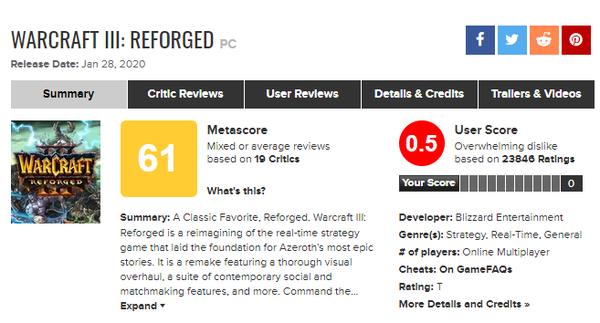 """可以""""一鍵退款""""的《魔獸爭霸3 重制版》,仍然難以讓玩家滿意"""