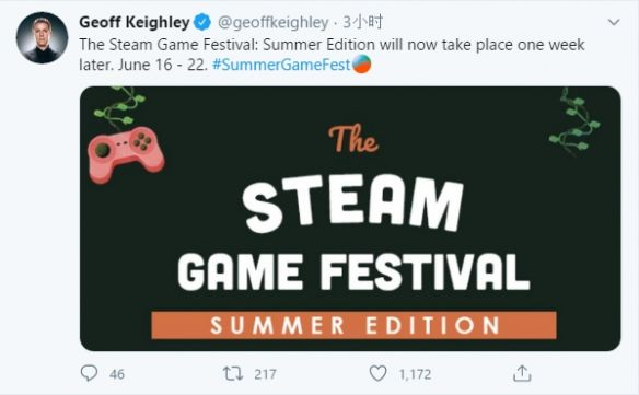 Steam夏日游戲節公布延期 具體延期原因未知