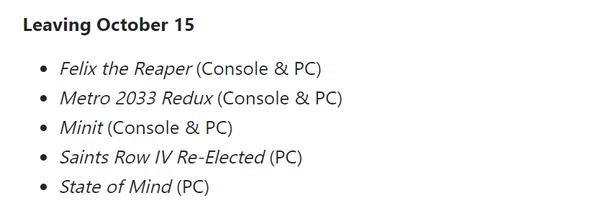 XGP公布10月第二批入库游戏 帝国时代3、武士刀零