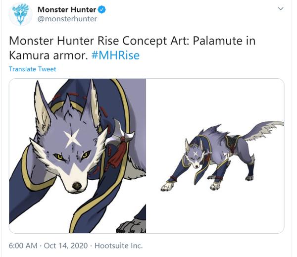 《怪物猎人:崛起》牙猎犬艾露猫新概念图曝光!
