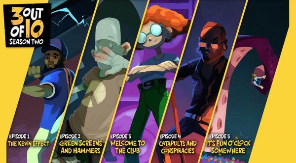 Epic本周免费送冒险游戏《3 out of 10: 第二季》