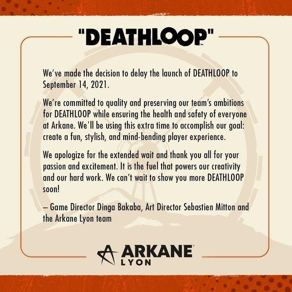 B社新作《死亡循環》由于疫情原因宣布再度跳票