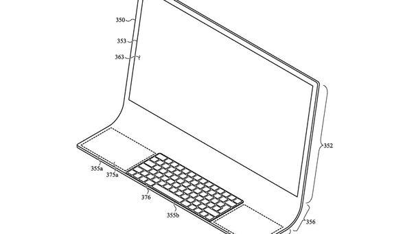 苹果申请了一项曲面屏幕的Mac电脑设计专利