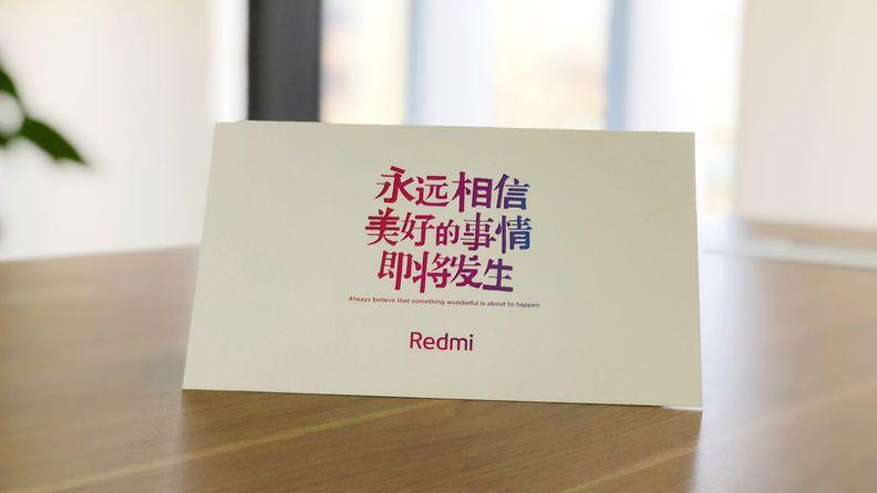 红米发布会邀请函新品将采用P2i纳米防水技术