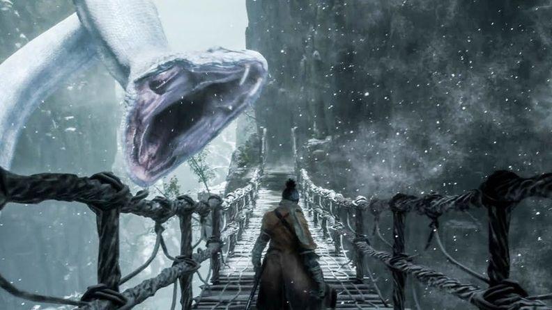 《只狼》中可愛的大白蛇 可不止一刀忍殺那么簡單