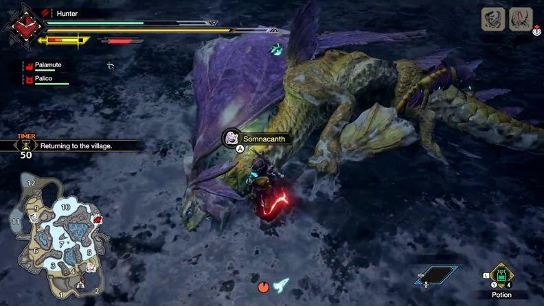 IGN公布《怪物獵人:崛起》人魚龍狩獵實機演示